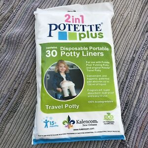 Kalencom 2 in 1 Potette Plus Disposable Portable Potty Liners, 30-pack Toilet