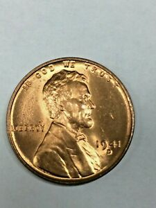 1941-D  Lincoln Wheat Cent - Brilliant Uncirculated #12053