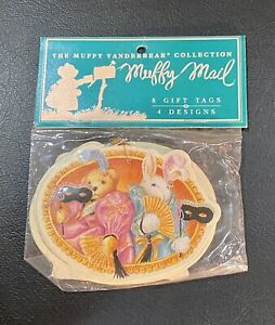 Vintage Muffy Vanderbear 1992 Muffy Mail 8 Gift Tags New In Package!