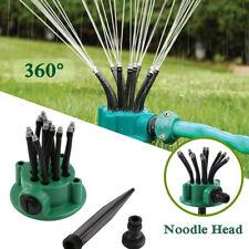 360° Irrigation Noodle Head Flexible Watering Sprinkler Spray Nozzle Lawn Garden