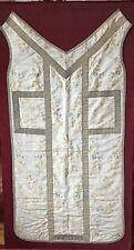 Religious Vestment Textile Cloth fragment with Gold thread vintage European