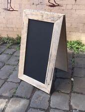 Large Wide A-Frame Chalkboard, Recycled Timber, Rustic Menu Sandwich Blackboard