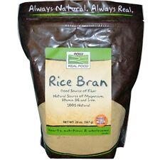 Now Foods, cibo vero, crusca di riso, 20 OZ (567 G)