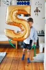 """40"""" Giant Numbers Foil Balloons Self Inflating Birthday Any Age Baloons"""