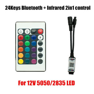 24key Mini IR remote Bluetooth App LED RGB Controller DC5-12V Smart Controller