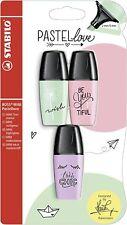 Stabilo Boss Mini Pastel Amor Rotuladores 3pk, Colores Rosa Verde Púrpura Asst
