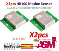 2pcs HB100 Microwave Motion Sensor 10.525GHz Doppler Radar Detector