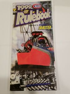 1999 NHRA RULE BOOK Drag Rules NATIONAL HOT ROD ASSOCIATION Dragsters