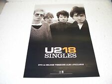 U2 18 Singles Cd & Dvd Promo Poster Rare 11 X 17 Bono The Edge