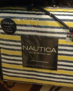 Nautica Cotton Quilt/Sham Set Full/Queen - Yellow