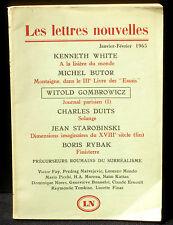 Les lettres nouvelles janvier-février 1965 : Kenneth White, Butor, Gombrowicz...
