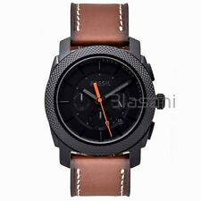 Fossil Original FS5234 Men's Machine Light Brown Leather Watch 45mm Chronograph
