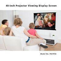 """New! Manual Retractable 40"""" Projector Screen Pull Out Style 32 x 24 Portable"""