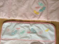 New Pink 3piece Swinging Crib Bedding Set Quilt, bumper /&Drape