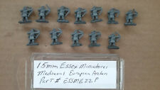 15mm Essex Miniatures  Medieval European Archers  Primed