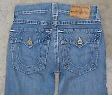 True Religion Hombre Joey Big T Jeans Sz 29 X 31 Envejecido 100% Cotton