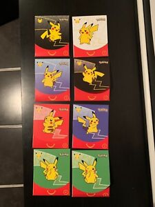 MCDONALDS 2021 HAPPY MEAL POKEMON CARDS LOT UNOPENED-8 packs (2 of each number)