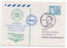 1980 GERMANY Special Flight Cover AEROSOZPHILEX BERLIN DDR to Friedrichsdorf