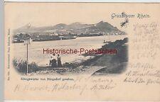 (111062) AK Gruss vom Rhein, Königswinter von Rüngsdorf gesehen, 1902