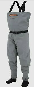 New in Box Frogg Toggs Men's Large Canyon II Breathable Waders Gray Large Reg