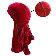 Terciopelo Bandana Hombre Mujer Transpirable Sombrero Turbante Unisex Durag Caps