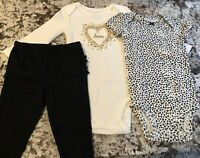 NWT BABY GIRL CARTER'S 3pc LOVE OUTFIT SIZE 6 MONTHS