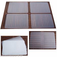 4 XL TISCHUNTERLAGE Tischset Platzmatte Unterlagen PP transparent 60 x 40 NEU