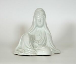 Antique Japanese Porcelain Figure Model Of Seated Kannon/Guanyin