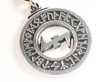 Wolfsangel Pewter Pendant, Viking Wolf Magic, Rune of Viking God Vidar Odins son