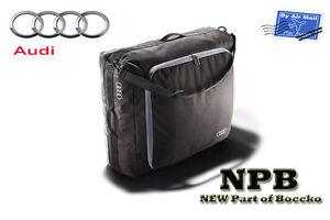 Audi Genuine Universal Black Roof Box Bag Audi Rings Logo Size L