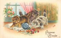 CPA Fantaisie - 3 chatons - illustrateur JUB