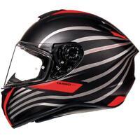 MT Targo DOPPLER nero opaco rosso Casco da MOTO MOTOCICLETTA MOTOCICLISMO
