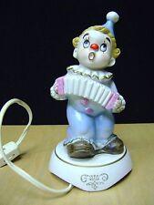 Vintage Aladdin Nite Lite Night Lamp Adorable - Blue porcelain clown-Aladdin