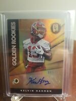 KELVIN HARMON 2019 CERTIFIED ROOKIE SIGNATURES GOLD 007/199 RC AUTO REDSKINS