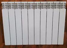 Aluminium Heizkörper PERFEKT Bauhöhe 57,5 cm 10 Segmente + Heizkörper Armaturen