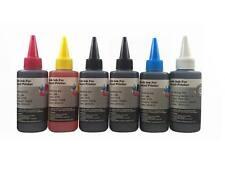 6 Bulk refill ink for Canon inkjet printer 6 colors 6x100ml BK/PhB/C/M/Y/Grey