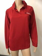 Republic Services Womens Long Sleeve Polo Shirt Large Polyester