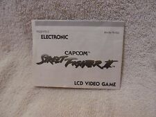 ORIGINAL 1991 CAPCOM STREET FIGHTER 2 ELECTRONIC GAME INSTRUCTIONS MANUAL ONLY