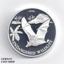 Samoa 1994 10 Dollars $ Tala Fledermaus Silber PP - proof silver bat