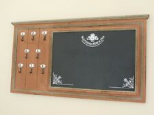 Cucina in legno look vintage richieste Gesso Memo Board Chiave Ganci montato a parete
