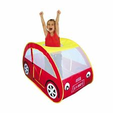 Boys Girls Car Tent Play House Childrens Kids Pop Up Indoor Outdoor Castle