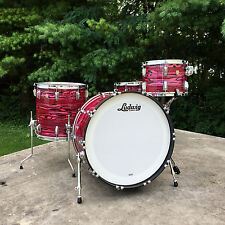 "Ludwig Classic Maple Pro Beat 3pc  24/13/16"" Red Oyster Pearl w/ Free 14"" Snare!"