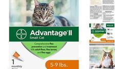 New listing 1 Dose Bayer Advantage Ii Fleas Prevention & Flea Eggs for Small Cats Cat 5-9lbs