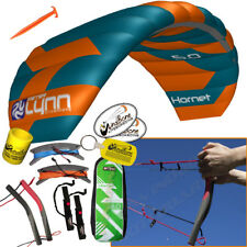 Peter Lynn Hornet 5M Foil Power Kite Kiteboarding 4-Line Fixed Quad Handles 2017