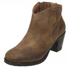 Zip 100% Leather Textured Boots for Women