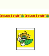 Tequila time fiesta Mexican bbq luau hawaiian Party Tape Decoration Banner