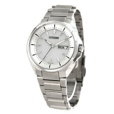 2016 NEW CITIZEN ATTESA Eco-drive radio clock watch day date display AT6050-54A