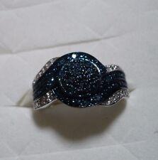 CLEARANCE^^^^  Blue Velvet Diamond Ring Sz.8 35 diamonds .33tcw MSRP$699.00
