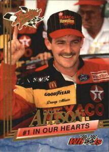 Mint Card of Davey Allison #100  Wheels Rookie Thunder 1993
