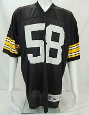 Reebok Jack Lambert #58 Pittsburgh Steelers Men's NFL Jersey Black & Yellow L